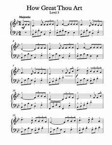 free piano arrangement sheet music how great thou art level 3 sheet music piano sheet