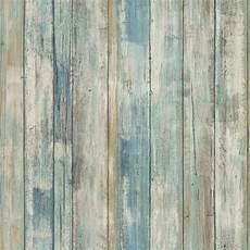 tapete holzoptik verwittert rmk9052wp blue distressed wood peel and stick wallpaper ebay