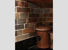 Rusty Brown Slate Mosaic Backsplash Tile For Traditional