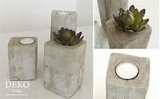 beton deko diy diy stylische deko kerzenleuchter aus beton deko kitchen
