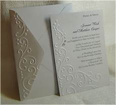 handmade embossed wedding invitations about paper