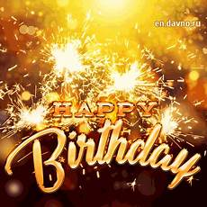 golden sparkling birthday fireworks card birthday birthday gif stylish golden letters and sparklers