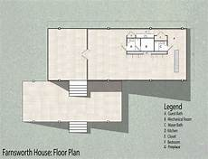 farnsworth house plan precedent study farnsworth house on behance