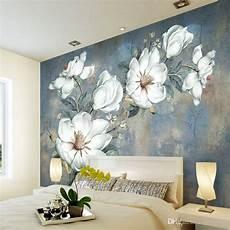 Flower Wallpaper In Bedroom by Custom Flowers Wallpaper 3d Retro Murals For The