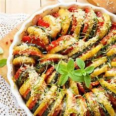 Kartoffel Zucchini Tomaten Gratin Rezepte Herzhaft In