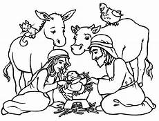 Ausmalbilder Weihnachten Tiere Free Printable Nativity Coloring Pages For