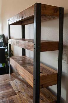 wood and metal shelves diy search pallet desk