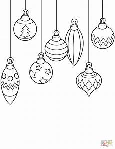 ornaments coloring pages easy
