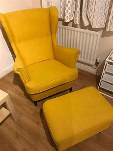 ikea sessel strandmon ikea wing chair strandmon with footstool in barnet