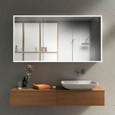 spiegelschrank in wand eingelassen bad spiegelschrank mit led profilen rundherum kaufen