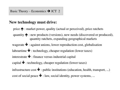 Economics And Information Theory