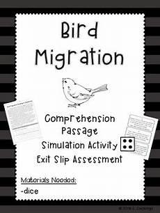 animal migration esl worksheets 14297 bird migration pack simulation reading exit slip by fidgety in fourth