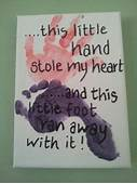 Airplane Plaque Handprint And Footprint Art For Baby