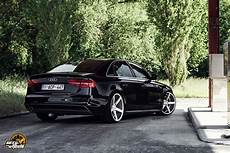 Cars Vossen Tuning Wheels Audi A4 Sedan Black Wallpaper