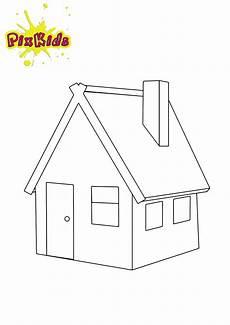 Haus Malvorlagen Ausdrucken Ausmalbild Haus Kostenlose Malvorlagen