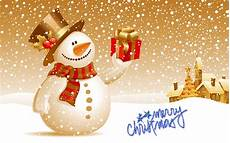 merry christmas snow man wallpaper