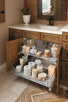 bathroom storage ideas sink the unique u shape of this sink base cabinet slide out
