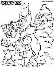 winter coloring pages coloring pages to and print