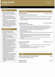 library assistant resume sles and templates visualcv