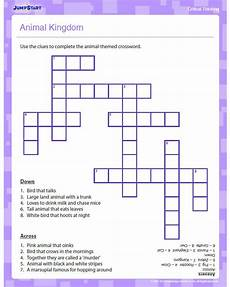 animal kingdom worksheets middle school 13932 free printable animal kingdom crossword puzzle
