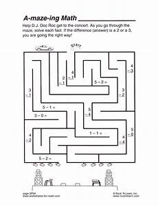 help d j doc roc get to the concert as you go through the maze solve each fact subtraction