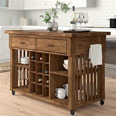 stylish freestanding kitchen islands carts in 2020 fortville kitchen cart with wood top in 2020 rustic