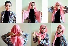 Foto Tutorial Pesta Segi Empat Dua Warna Modernhijab77