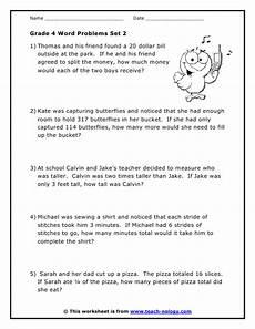 grade 4 problem solving worksheets grade 4 word problems set 2