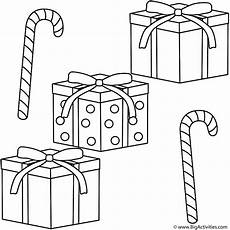 gifts with canes coloring page