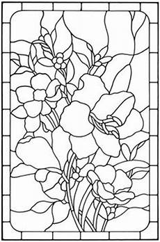 Floral Stained Glass Pattern Book vorlagen 349 jpg 612 215 792 seidenmalerei