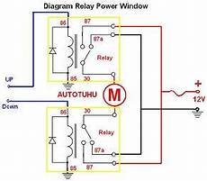 Wiring Diagram Relay Power Window Rangkaian Relay Power