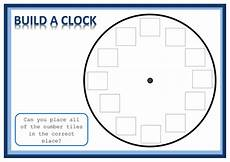 time build a clock activty teaching resources