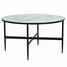 Table Basse Marbre Ronde Table Basse Ronde Alaska Effet Marbre Et M 233 Tal Noir 80 Cm
