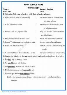 worksheets for std viii find teacher worksheets