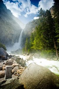 California Waterfall Yosemite Falls