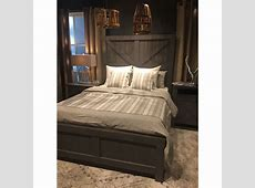 Tall Farmhouse Bedroom Set in a Grey Taupe Finish