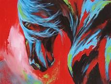 modele de tableau moderne moderne animal peinture cheval peinture et