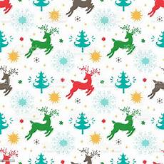 merry christmas background holiday vector seamless pattern christmas reindeer tree