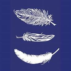 textilschablone federn mit 3 verschiedenen federn a5