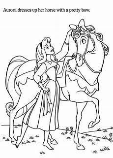 Malvorlage Pferd Prinzessin Princess Coloring Page
