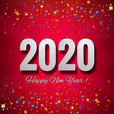 we wish you a happy new year 2020 beautiful card vector free download