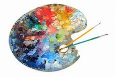 Artist S Palette With Paintbrushes Stock Photo Image Of