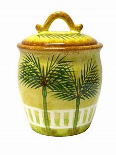 ceramic palm tree tropical beach theme canister kitchen decor ebay