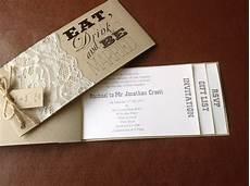shabby chic cheque book wedding invitation weddings