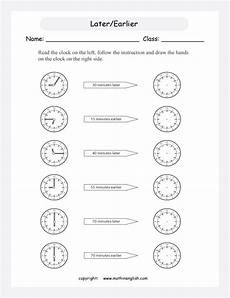 time worksheets earlier and later 2983 read a clock add or subtract earlier later time and draw the on the new clock great