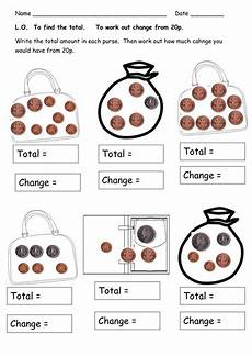 money worksheets working out change 2276 money worksheets totals and change by clara5 teaching resources tes