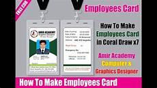 id card template for coreldraw employee id card in corel draw company id card