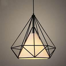 lustre suspension cage diamant le suspendue luminaire
