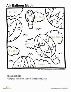 addition worksheets for grade 1 coloring 9387 addition coloring page worksheet education
