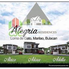 house and lot for sale alegria residences loma de gato marilao bulacan property for sale